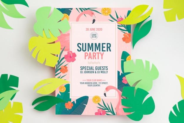Maqueta colorida del concepto de verano