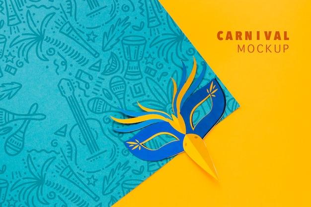 Maqueta colorida máscara de carnaval