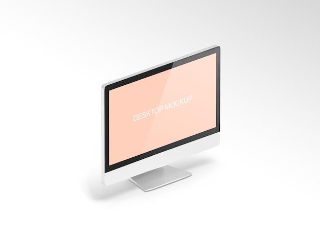 Maqueta de computadora de pantalla
