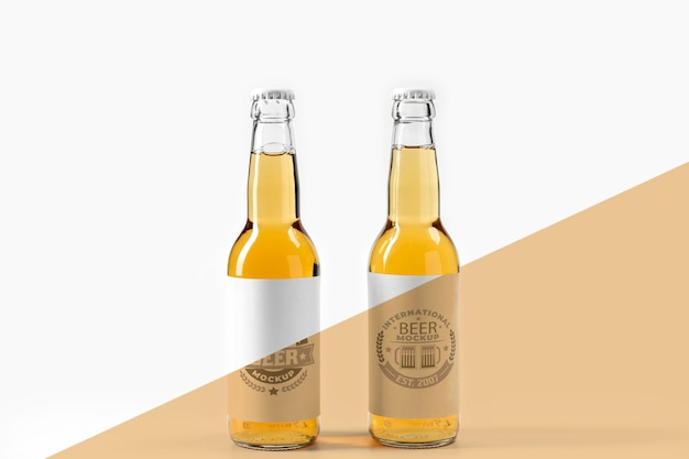 Maqueta de concepto de arreglo de cerveza artesanal