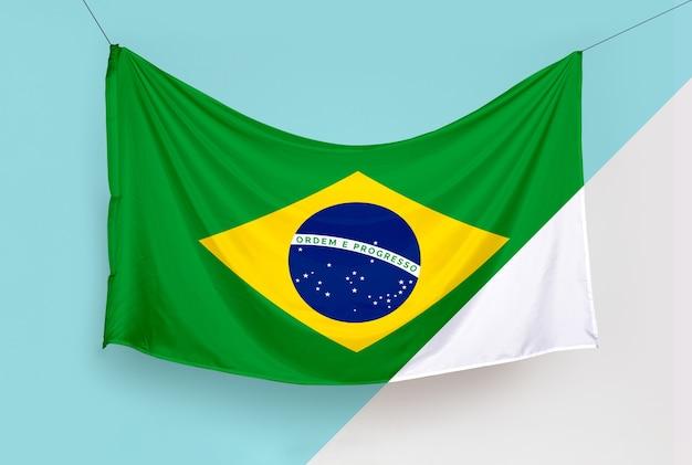 Maqueta de concepto de bandera de brasil