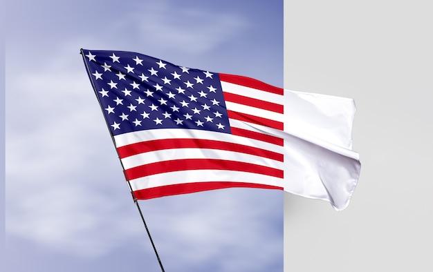 Maqueta de concepto de bandera de estados unidos
