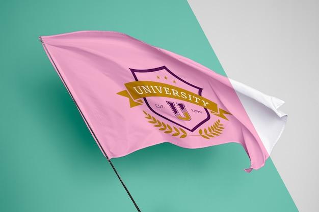 Maqueta del concepto de bandera universitaria