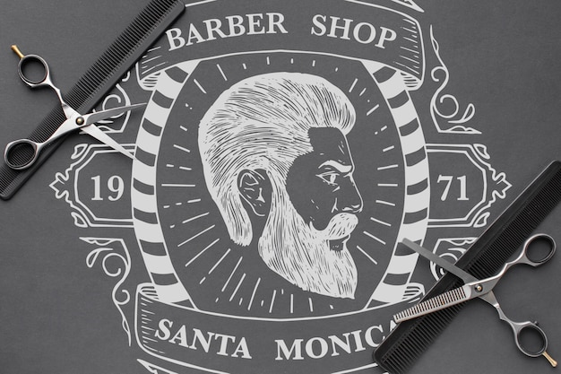 Maqueta del concepto de barbería