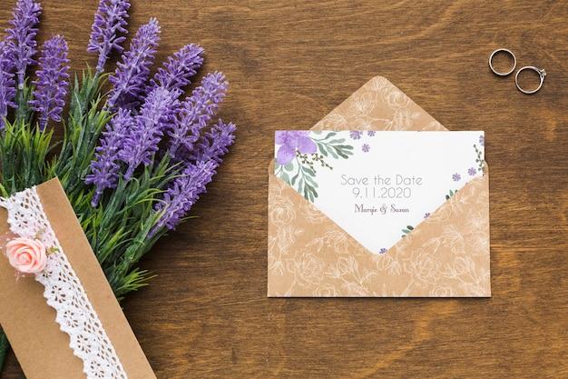 Maqueta de concepto de boda floral