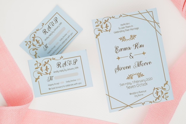 Maqueta de concepto de boda hermosa