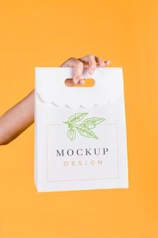 Maqueta del concepto de bolsa de papel