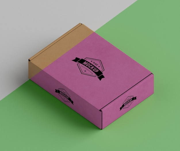 Maqueta de concepto de caja de embalaje