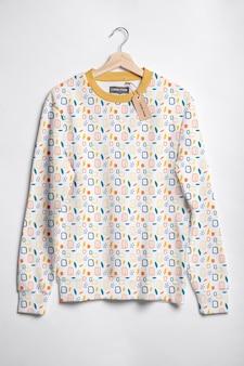 Maqueta de concepto de camisa colorida hermosa