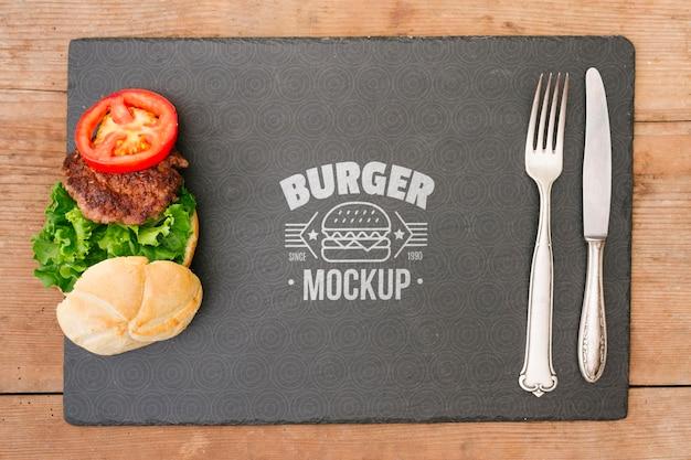 Maqueta del concepto de comida americana