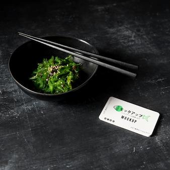 Maqueta de concepto de comida asiática
