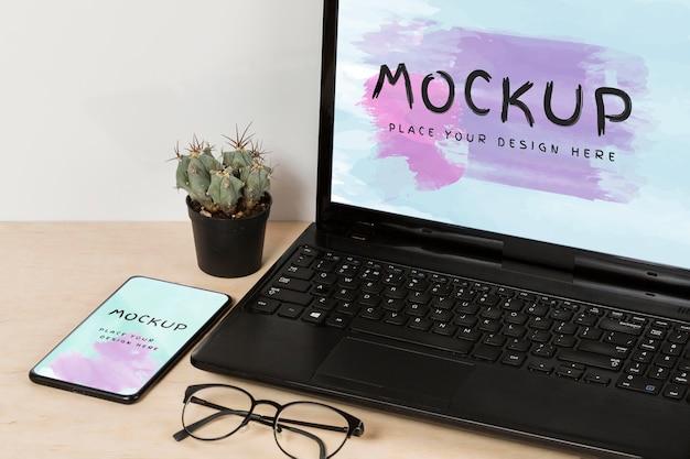 Maqueta de concepto de concepto de escritorio