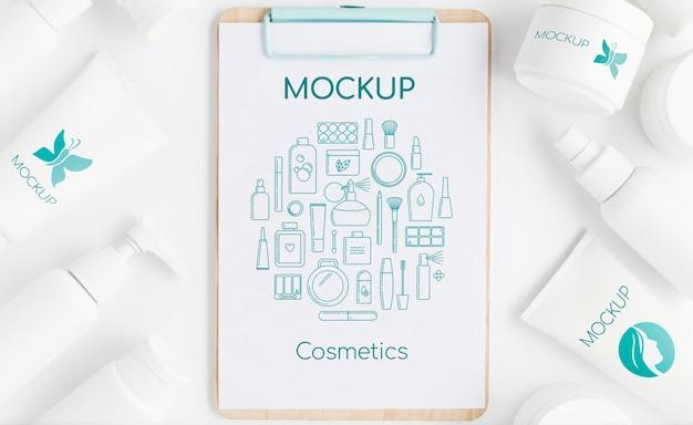Maqueta de concepto de cosmética natural