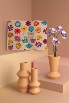 Maqueta de concepto de deco de primavera
