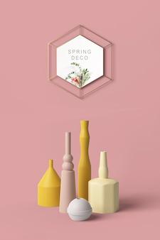 Maqueta del concepto de decoración primaveral