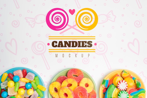 Maqueta de concepto de deliciosos dulces