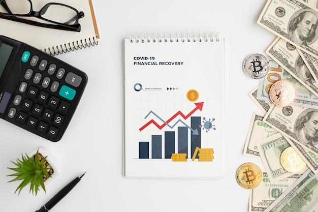 Maqueta del concepto de devolución de dinero