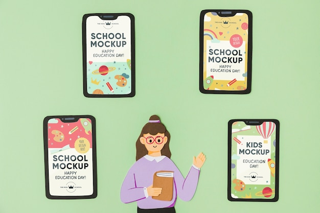 Maqueta del concepto del día de la educación