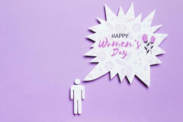 Maqueta del concepto del día de la mujer