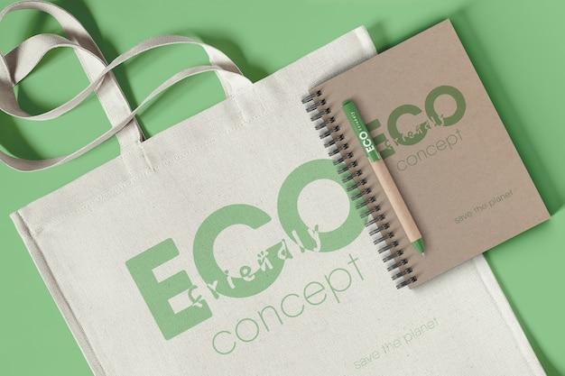 Maqueta de concepto ecológico de marca