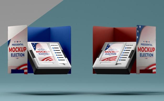Maqueta del concepto de elecciones estadounidenses