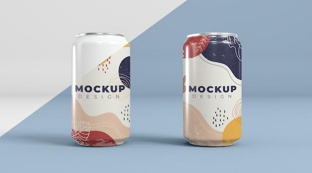 Maqueta de concepto de embalaje de lata abstracta