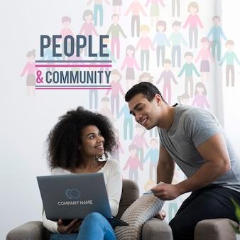 Maqueta de concepto étnico comunitario