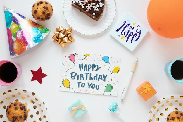 Maqueta de concepto de feliz cumpleaños