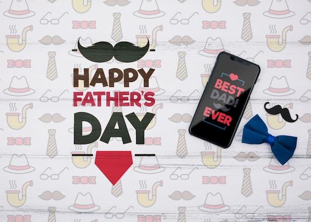 Maqueta de concepto de feliz día del padre