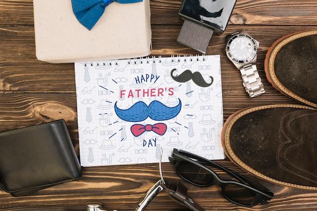 Maqueta de concepto de feliz día del padre PSD gratuito