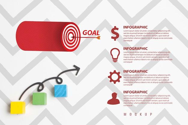 Maqueta del concepto de flechas