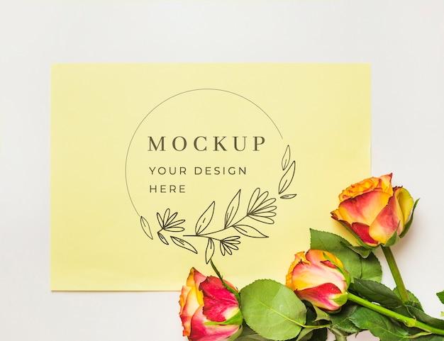 Maqueta de concepto de flores hermosas