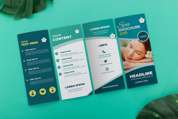Maqueta del concepto de folleto