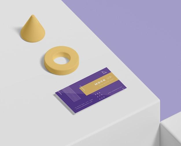 Maqueta de concepto de formas geométricas