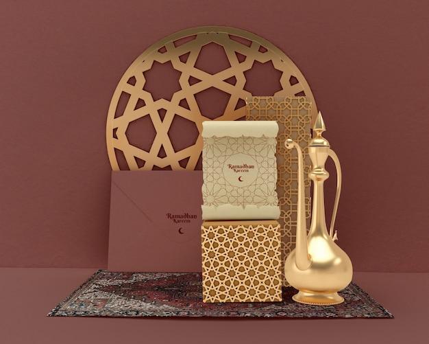 Maqueta del concepto de formas islámicas