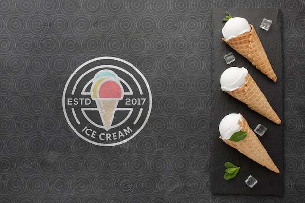 Maqueta de concepto de helado