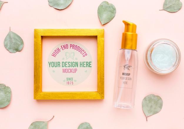 Maqueta de concepto de higiene y belleza PSD Premium