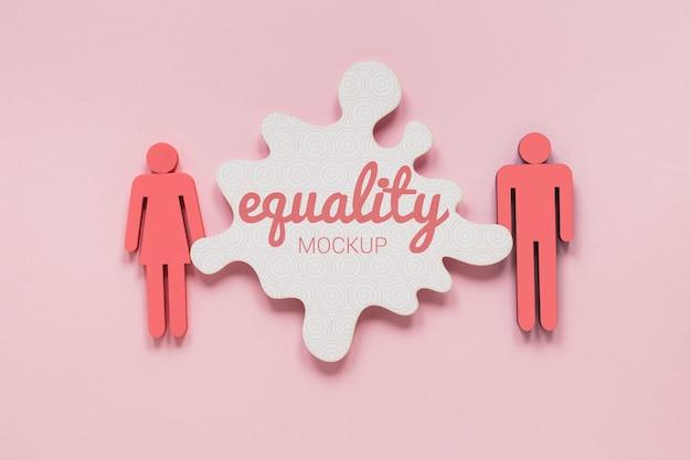 Maqueta del concepto de igualdad de género