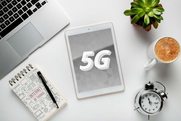 Maqueta de concepto de internet 5g