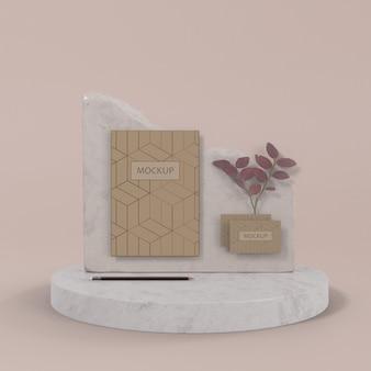 Maqueta de concepto de marca elegante