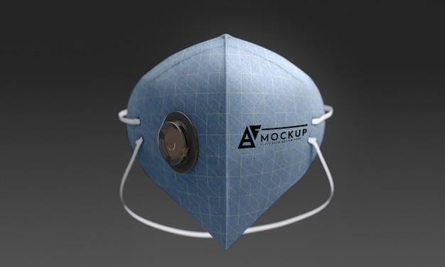 Maqueta de concepto de máscara facial