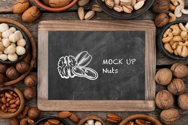 Maqueta de concepto de nueces deliciosas