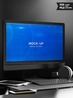 Maqueta de concepto de pantalla de computadora