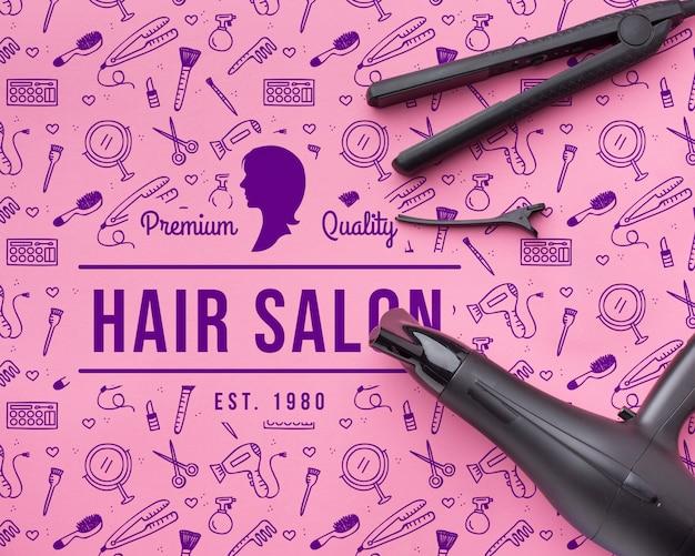 Maqueta de concepto de peluquería