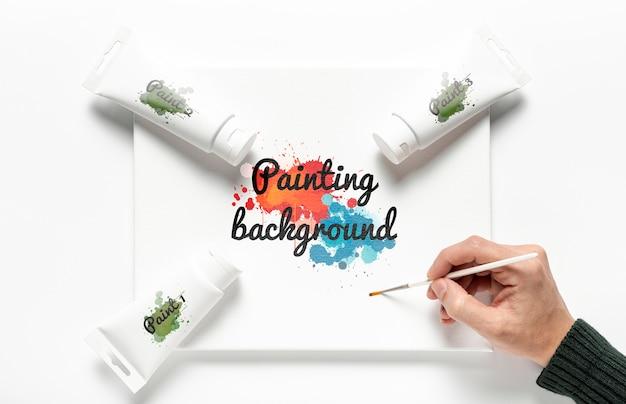 Maqueta de concepto de pintura colorida