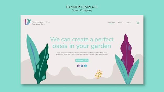 Maqueta de concepto de plantilla de banner de negocios coloridos