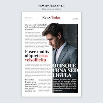 Maqueta de concepto de portada de periódico
