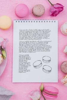 Maqueta de concepto de postre delicioso