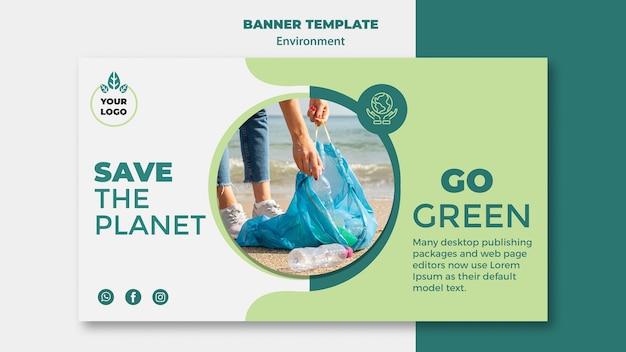 Maqueta del concepto de salvar el planeta