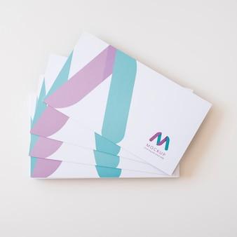 Maqueta del concepto de tarjeta de visita